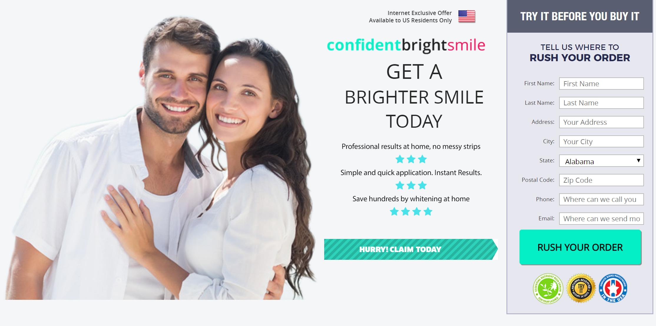 Confident Bright Smile order