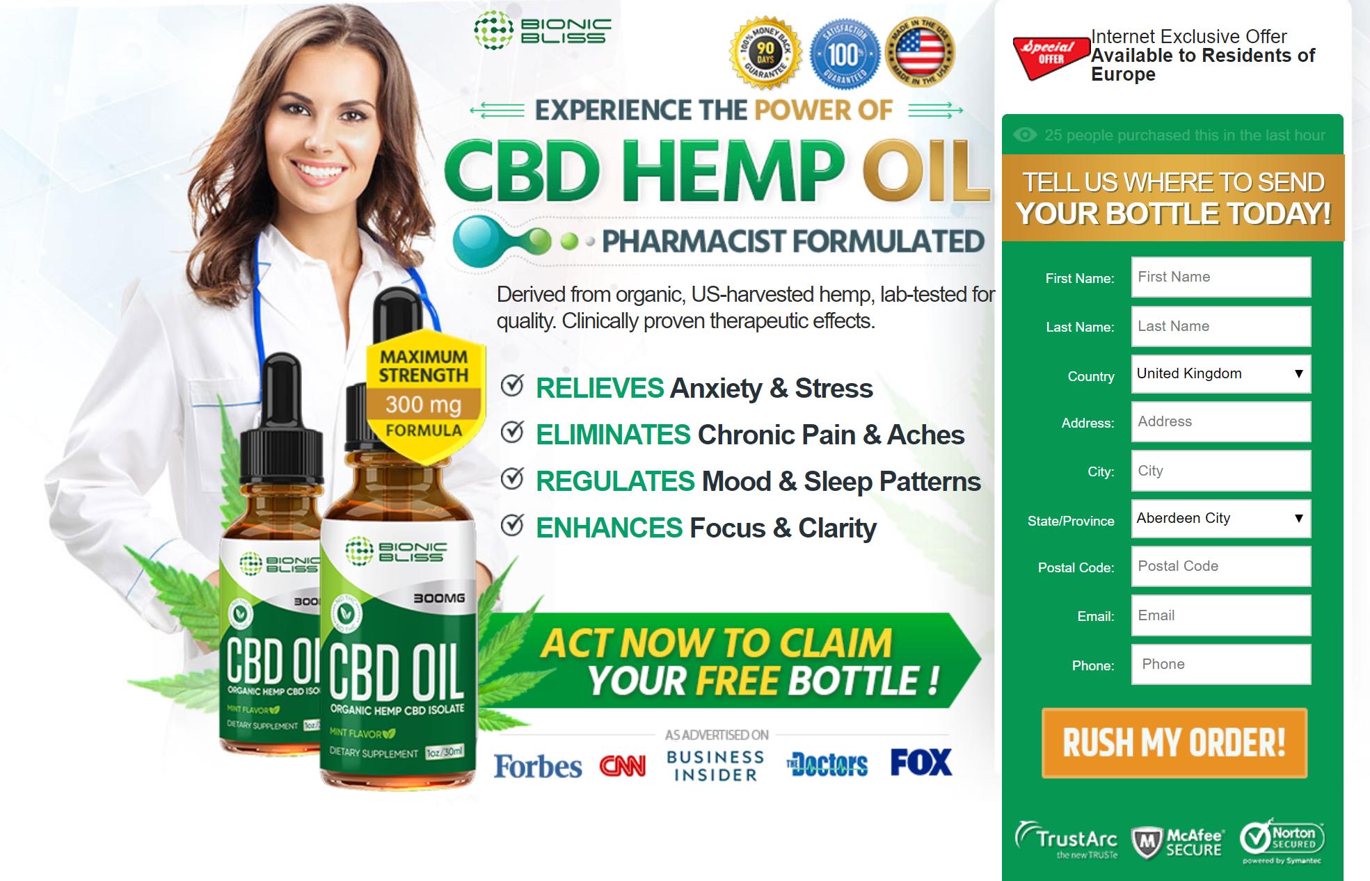 Bionic Bliss Organic CBD Oil