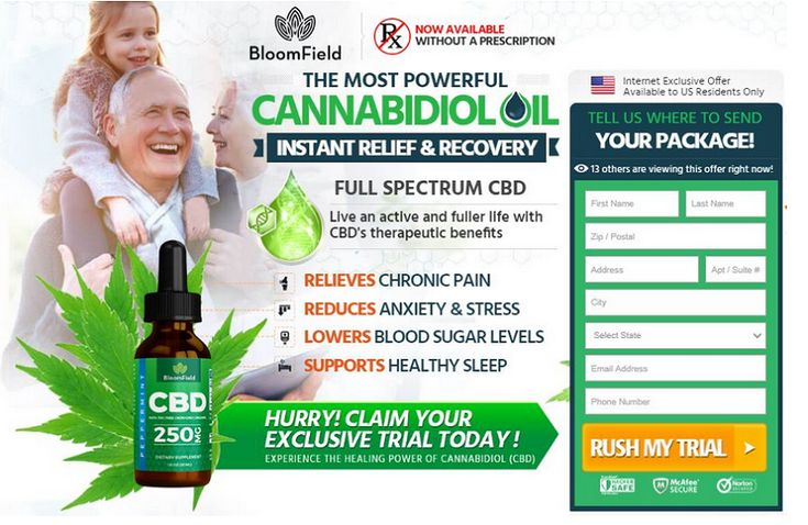 Bloomfield CBD Oil order